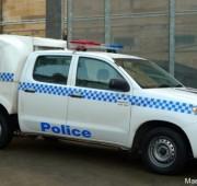 Police Paddy Wagon. Toyota Hilux