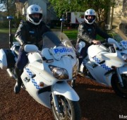 2 Police motorcycles. Identical